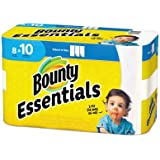 Bounty Essentials 2-Ply Paper Towels, Select-A-Size, 11in. x 5 7/8in, White, 40 Sheets Per Roll, Carton Of 8 Rolls
