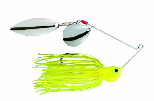 Strike King Potbelly Spinner Bait  Chartreuse   375 Ounce  Colorado Willow Blades