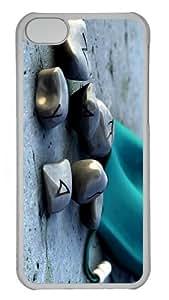 cover brand new magic stones PC Transparent case for iphone 5C