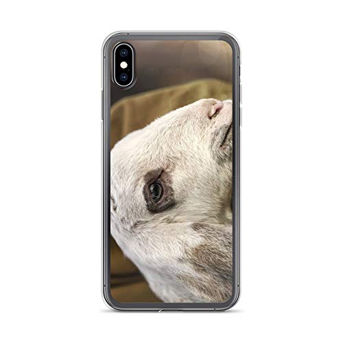iPhone Xs Max Case Anti-Scratch Creature Animal Transparent Cases Cover Lamb with Shepherd Animals Fauna Crystal Clear