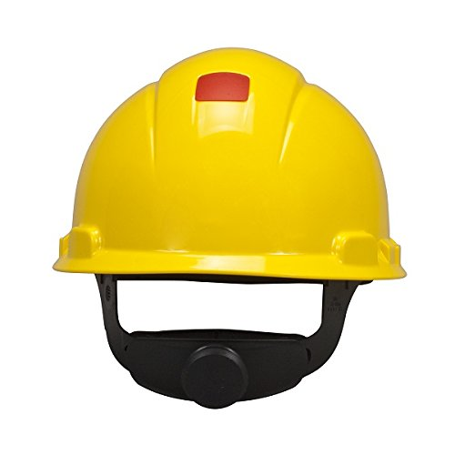 3M Hard Hat H-702R-UV, UVicator Sensor, 4-Point Ratchet Suspension, Yellow from 3M Personal Protective Equipment
