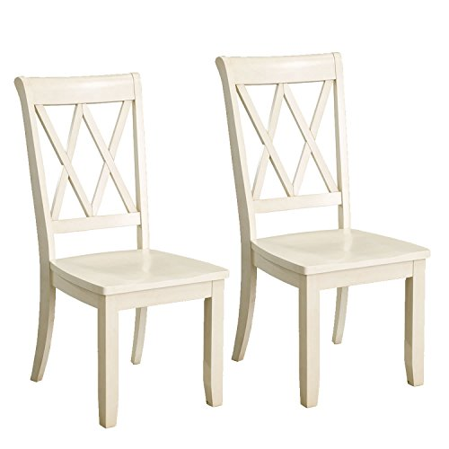 Standard Furniture 11304E Vintage Transitional Style Dining Side Chairs, Pack of 2, Vanilla (Furniture Style Dining Transitional)