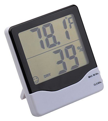 Digital Hygrometer - Indoor Humidity and Temperature Sensor - Accurate Readings - Easy Installation