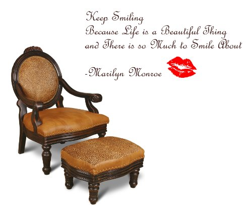 Keep Smiling Merlin MONROE Quote Wall Art Decal Sticker, Highest Quality 53