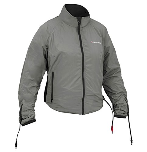 Jacket Liner Heated Safe - Firstgear 90-Watt Warm and Safe Women's Grey Heated Jacket Liner, 2XL