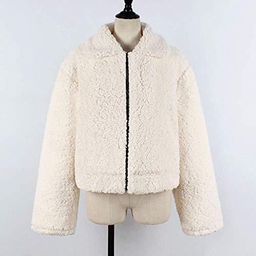 Capispalla Loose Luxury Grazioso Wool Bg Warm Artificiale Zipper Elegant Coat Jacket Faux Ladies Teddy Fake Biran n0OvN8wyPm