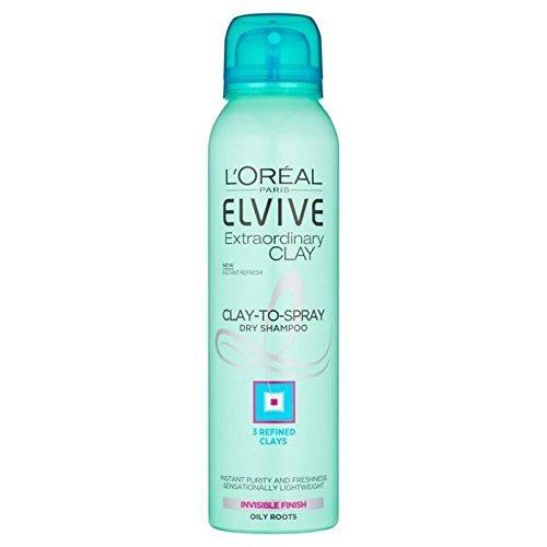 L' Oreal Elvive Extraordinary Clay Dry shampoo 150ml (confezione da 6) L' Oreal