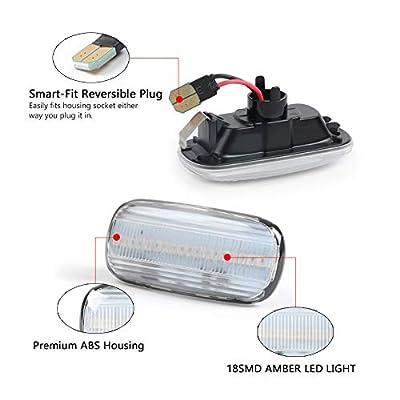 GemPro 2Pcs Clear Lens Amber LED Side Marker Turn Signal Light Compatbile for Audi A4 S4 B6 B7 A6 C5 TT A8: Automotive