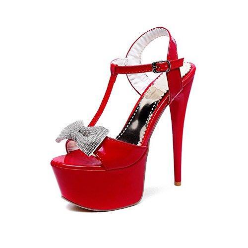 de de Superficial Tacón Cabeza Mujer QXH Inferior Alto Red Grueso Boca de Redonda Sandalias AxIwv