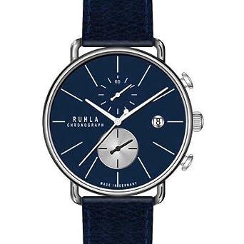 Chronograph - Edelstahl - Ruhla-Chrono - blau