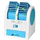 GS.Lee Mini USB Handheld Portable Fan Desktop Air Conditioner Water Cooler, Blue