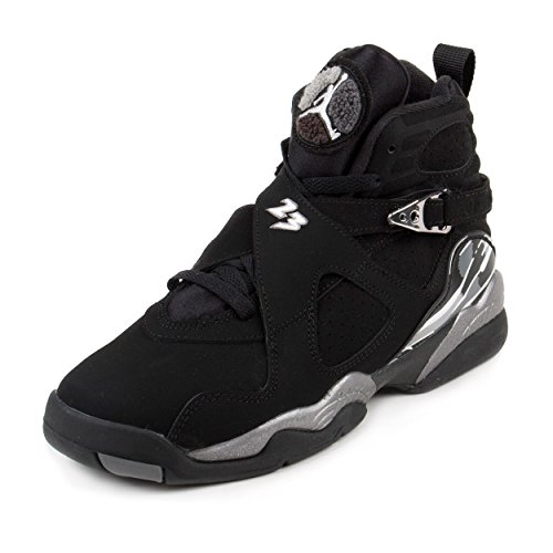 Nike Jordan Kids Jordan Air Jordan 8 Retro Bg Black/White/Lt Graphite Basketball Shoe 4.5 Kids US by NIKE
