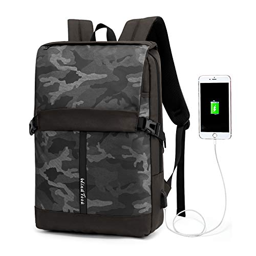 WindTook Laptop Backpack with USB Charging Port, Business Travel College School Computer Bag for Women & Men