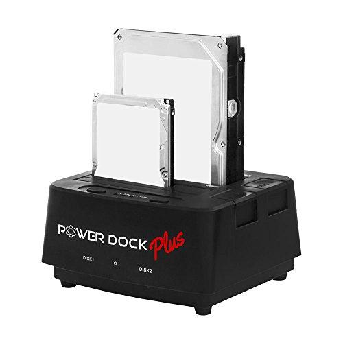 Kingwin USB 3.0 to Dual Bay SATA/SSD Hard Drive Dock w/ Offline Clone Function. Compatible w/ 2.5