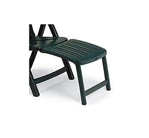 Nnardi 40.296 - Apoyapies de 45 cm para sillones Superga o Salina, patas tubulares y tacos antideslizantes, color marrón