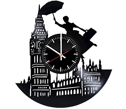 Mary Poppins Returns Vinyl Record Wall Clock - Get Unique Bedroom or livingroom Wall Decor - Gift Ideas for Boys and Girls Perfect Element of The Interior Unique Modern Art