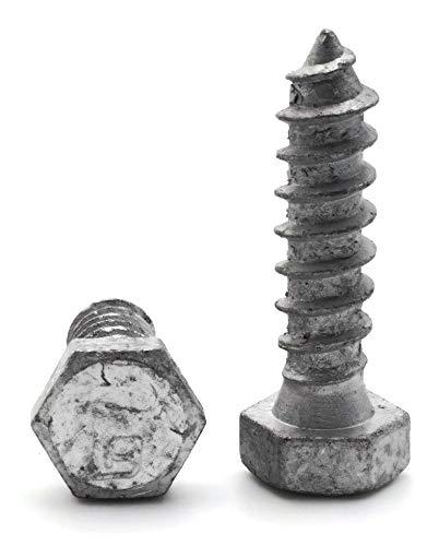 Hex Lag Screws Hot Dipped Galvanized 5//16-9 x 3-1//2 Qty-250