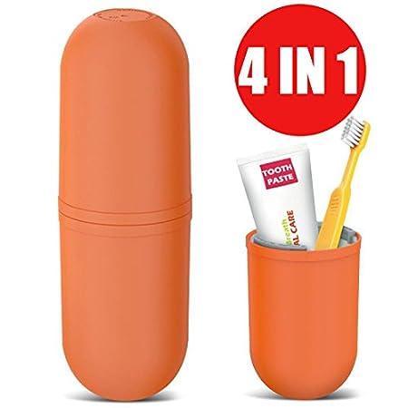 4 Set Orange USAR Reise Wasser Becher Set,Kreativer Zahnputzbecher Zahnb/ürstenhalter,Paar Kampierender Tasse,Tragbar Waschende Schale,Geeignet f/ür Gesch/äftsreisen Zuhause Kampierender Wandernder
