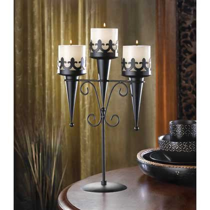 Medieval Triple Candle Stand By Little Red Crane