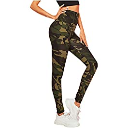 SANFASHION Women Leggings Long Sports Yoga Running Tights Print Super Soft Slim Fit High Waist Athletic Stretch 2020 Newest Ladies Fitness Pants Trousers Printed Patterns