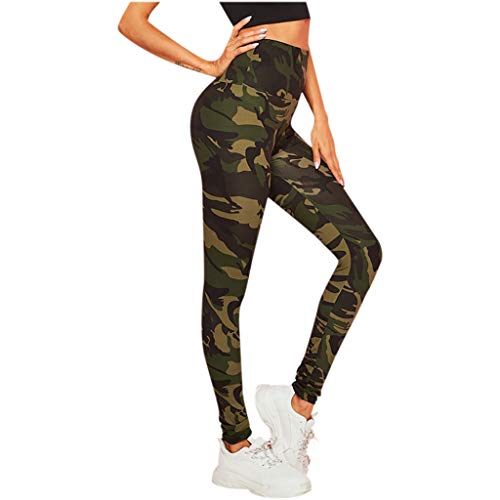 FIRERO Womens High Waist Camouflage Printing Leggings Tightening Sports Casual Yoga Pants (Vs Yoga Pants Xs)