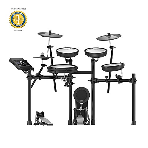 Roland TD-17KV V-Drums Electronic Drum Set with Microfiber and Free EverythingMusic 1 Year Extended Warranty