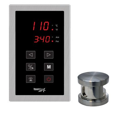 Steam Spa OATPKBN Oasis Touch Panel Control Kit with Steam Head, Brushed Nickel (Spa Nickel Spa Brushed)