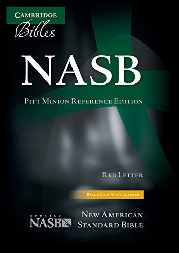 NASB Pitt Minion Reference Bible, black calfsplit leather, red letter text: (Minions In The Bible)