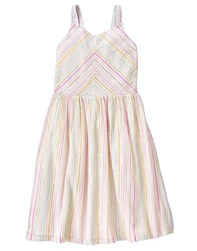 Crazy 8 Big Girls' Sleeveless Dressy Woven Dress, Multi Lurex Stripe, S -