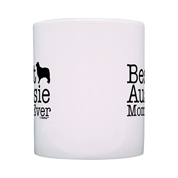 Australian Shepherd Gifts Best Aussie Mom and Dad Ever Australian Shepherd 2 Pack Gift Coffee Mugs Tea Cups White 3