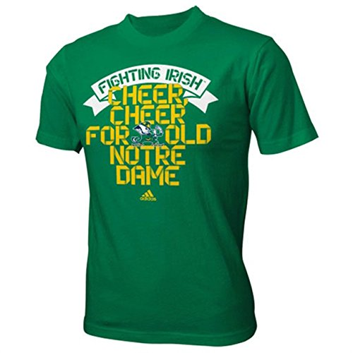 adidas Notre Dame Fighting Irish Youth School Ribbon T-Shirt - Green, Youth ()