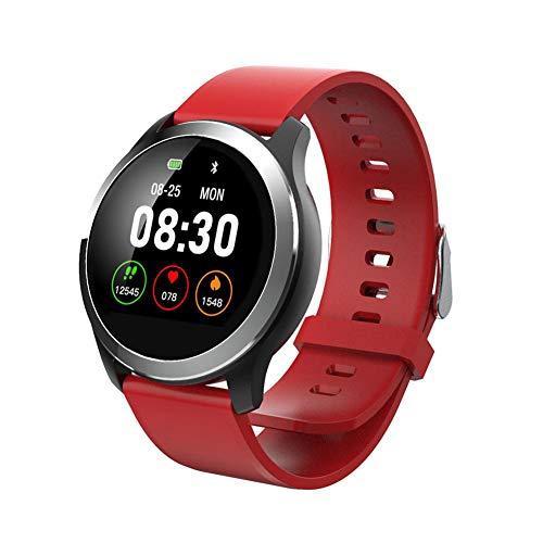 QKa Smart Watch mit EKG-Wiedergabediagramm und Blutdruck-Herzfrequenzmesser, Einstellbarer Helligkeit Edelstahl-Armband…