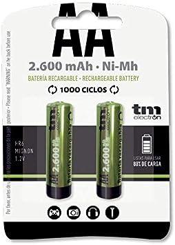 TM Electron TMVH-AA2600H - Pack de 2 Pilas Recargables, Color ...