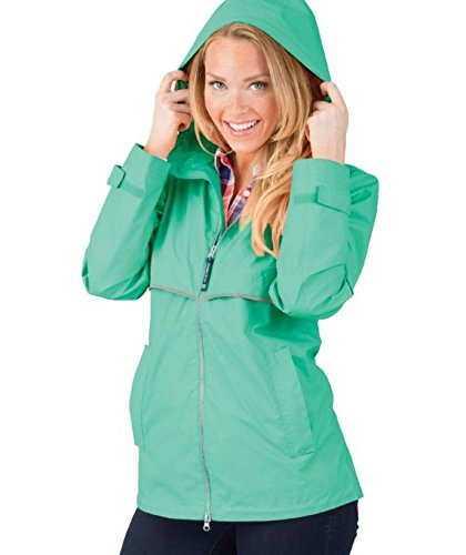 Charles River Apparel Women's New Englander Waterproof Rain Jacket, Mint/Reflective, ()