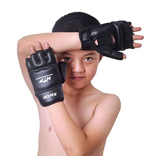 キッズ 子供用 ハーフフィンガー ボクシンググローブ ミット 空手サンドバッグ テコンドー プロテクター 年齢 3-12
