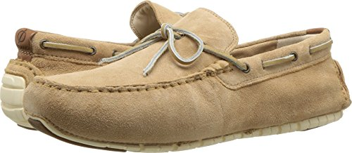 (Cole Haan Men's Zerogrand Camp MOC Driver Driving Style Loafer, iced Coffee Suede/Brazilian Sand, 9.5 Medium US)