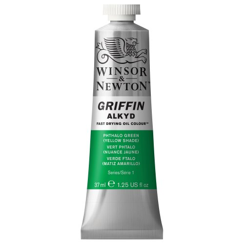 Winsor & Newton Griffin Alkyd Fast Drying Oil Colour Paint, 37ml tube, Phthalo Green (Yellow Shade) (Winsor Green Yellow Shade)