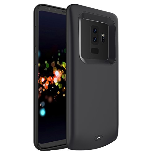 Galaxy S9 Plus Battery Charger Case,Mpaltor 5200mAh External Backup Charger Power Bank Protective Cover for Samsung Galaxy S9 Plus (Black)