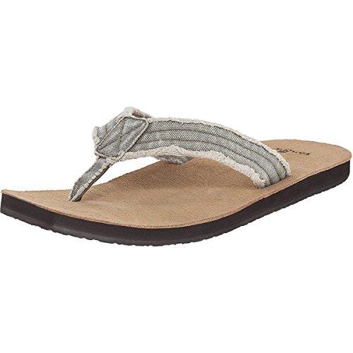 Sanuk Men's Fraid Not Flip Flop, Olive, 9 M US -