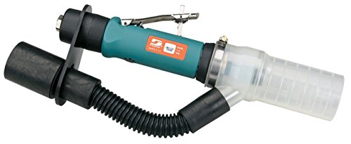 Dynabrade 56759 .7 hp Straight-Line Die Grinder, Central Vacuum, 15,000 rpm, Gearless, Rear Exhaust, 1/4'' & 6mm Collets, Extended Muffler by Dynabrade