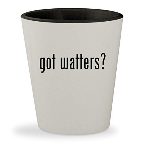 got watters? - White Outer & Black Inner Ceramic 1.5oz Shot Glass