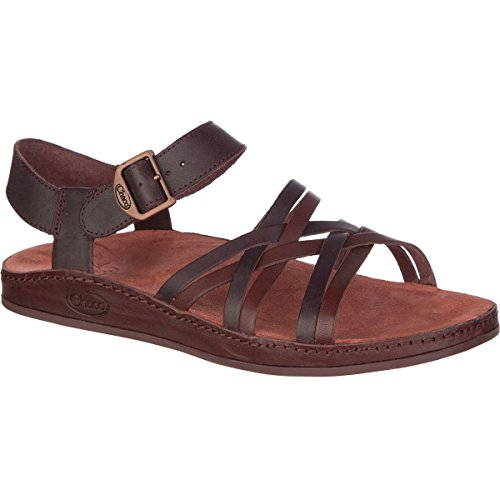 Chaco Women's Fallon Sandal, Java, 9 M US (Leather Sandals Brown)