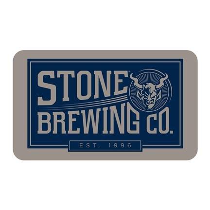 Stone Brewing Company - Gargoyle Rectangle Logo Sticker (Gargoyle Sticker)