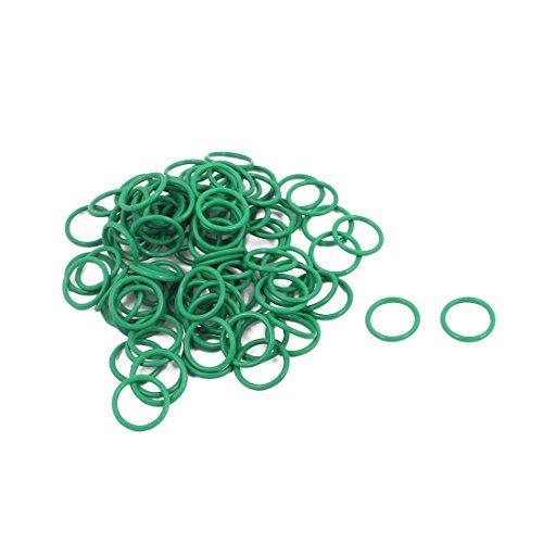 DealMux 100Pcs 10 mm x 1 mm FKM nitrilo juntas tó ricas de goma resistente al calor de sellado del anillo de pasahilos verde DLM-B01N63SYQ4