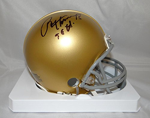 Paul Hornung Autographed Notre Dame Fighting Irish Riddell Mini Helmet- W Aut - JSA Certified - Autographed College Mini Helmets
