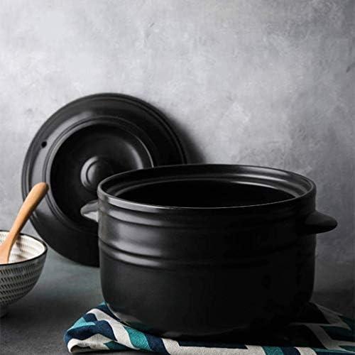weiwei Casserole en Pierre avec Couvercle Pot à Soupe Pot à Lait en céramique Multifonction Flamme Ouverte à Haute température