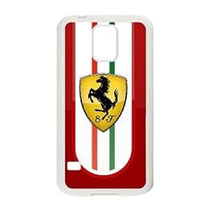 Ferrari Samsung Galaxy S5 Cell Phone Case White xlb-153605
