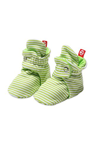 Zutano Unixex Baby Candy Stripe Bootie, Lime, 6 Months (Girls Zutano Socks)