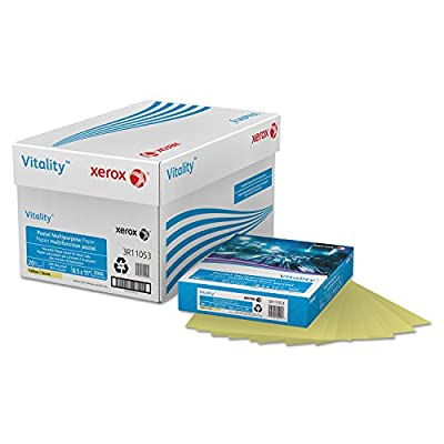 "3R11053 Xerox Multipurpose Pastel Paper - Letter - 8.5"" x 11"" - 75g/m² - Yes - 500 / Ream - Yellow"