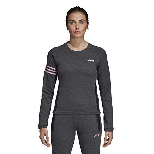 Mujer true Crew Heather E W Pink Sweatshirt Dark Grey Mo Adidas HpSqUxwXx